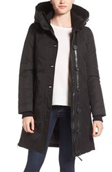 Mackage Women's Water Resistant Hooded Down Coat Black