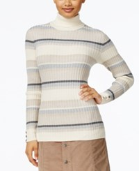 Styleandco. Style Co. Striped Turtleneck Sweater Only At Macy's Neutral Combo