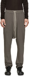 Rick Owens Grey Relaxed Fit Lounge Pants