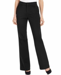 Jm Collection Twill Straight Leg Pants Black