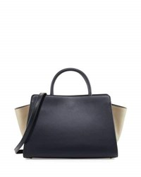 Zac Posen Eartha Colorblock Leather Satchel Bag Lagoon