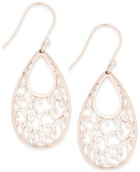 Giani Bernini 18K Rose Gold Plated Sterling Silver Scroll Drop Earrings Only At Macy's