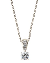 Fantasia Prong Set Cz Pendant Necklace