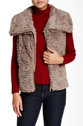 Fever Faux Fur Vest Gray