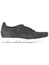 Buttero Panelled Lace Up Sneakers Grey