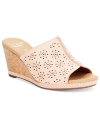 Clarks Collections Women's Helio Corridor Wedge Sandals Women's Shoes Blush