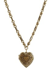 Etro Heart Locket Necklace Gold