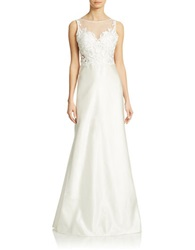 Basix Ii Lace Front A Line Gown Ivory