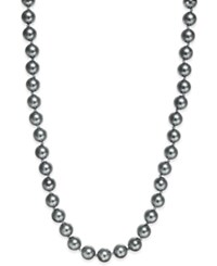 Charter Club Silver Tone Gray Imitation Pearl Strand Necklace Only At Macy's