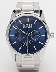 Hugo Boss Chronograph Stainless Steel Strap Watch 1513126 Silver