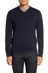 Ted Baker Men's London 'Cashguy' Trim Fit V Neck Sweater Navy