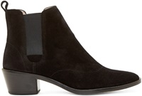 Repetto Black Suede Heeled Auguste Boots
