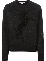 Stella Mccartney Horse Applique Sweater Black