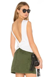 Alexander Wang Open Back Twist Tank Top White