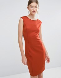 Vero Moda Cap Sleeve Dress Burnt Brick Orange