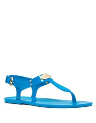 Michael Michael Kors Mk Plate Jelly Sandals Pool Blue