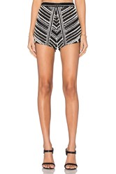 Karina Grimaldi Siesta Beaded Shorts Black And White