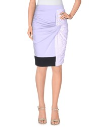 Gaetano Navarra Skirts Knee Length Skirts Women Lilac