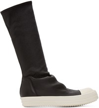 Rick Owens Black Sock High Top Sneakers
