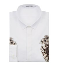 Neil Barrett Hawk Print Shirt Male White
