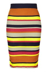 Knitted Midi Skirt By Glamorous Petites Yellow