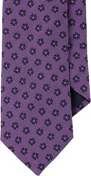 Barneys New York Floral Faille Jacquard Neck Tie Purple