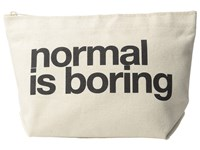 Dogeared Normal Is Boring Lil Zip Black Canvas Bags Multi