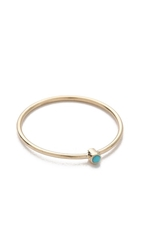 Jennifer Meyer Jewelry Thin Ring With Turquoise Gold Turquoise