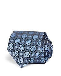Bloomingdale's The Men's Store At Large Medallion Classic Tie Navy