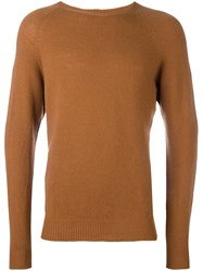 Barena Crew Neck Jumper Brown