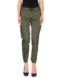 Department 5 Trousers Casual Trousers Women Military Green