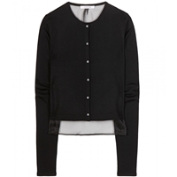 Dorothee Schumacher All My Wishes Wool And Silk Cropped Cardigan