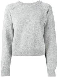 Alexander Wang T By Crew Neck Sweater Grey