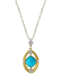 Jude Frances Judefrances Jewelry 18K Cushion Cut Turquoise And Diamond Pendant Necklace Women's