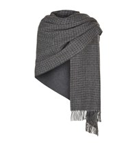 Max Mara Maxmara Weekend Svago Reversible Check Scarf Female Dark Grey