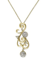 Macy's Effy Final Call Diamond Swirl Pendant Necklace 5 8 Ct. T.W. In 14K Gold Yellow Gold