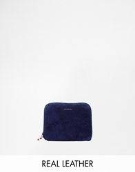 Wood Wood Mixed Suede Purse Navy