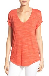 Women's Gibson V Neck Short Sleeve Tee Paprika