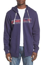 O'neill Men's 'Collect' Graphic Zip Hoodie Indigo