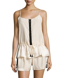 Carolina Herrera Cami And Short Set Champagne Black
