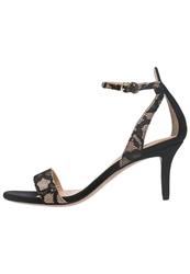 Pura Lopez Sandals Black Nude