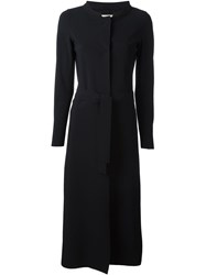 Herno Long Belted Coat Black