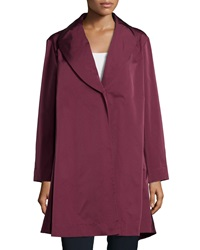 Lafayette 148 New York Shawl Collar One Button Coat Cabernet