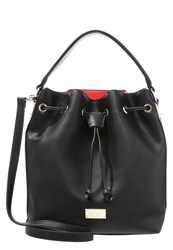 Lydc London Handbag Black Grey Red