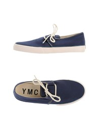 Ymc You Must Create Footwear Low Tops And Trainers Men Dark Blue