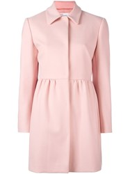 Red Valentino Mid Length Coat Pink And Purple