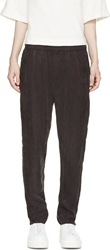 Won Hundred Charcoal Draping Bandy Trousers