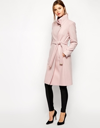 Ted Baker Belted Wrap Coat In Pale Pink Palepink