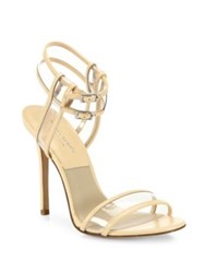 Michael Kors Brittany Runway Leather And Vinyl Pvc Sandals Nude