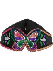 Manish Arora Embroidered Butterfly Belt Black